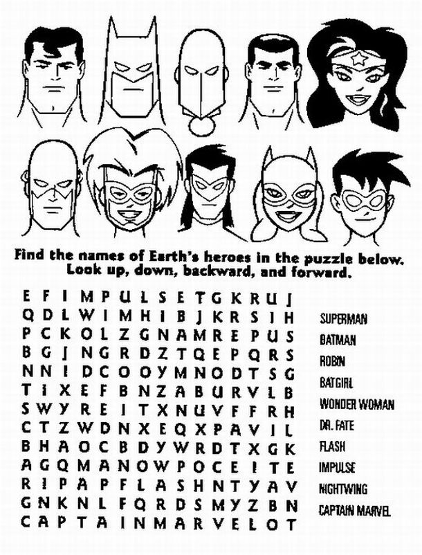 Superhero Coloring Pages 12 LRG 11113 KB Rating 110 Full Size
